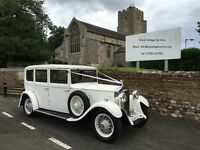 The Ultimate Wedding Car for your day of a lifetime - a 1932 Rolls Royce in stunning white