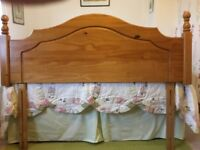 Bed Headboard. King size pine headboard in very good condition