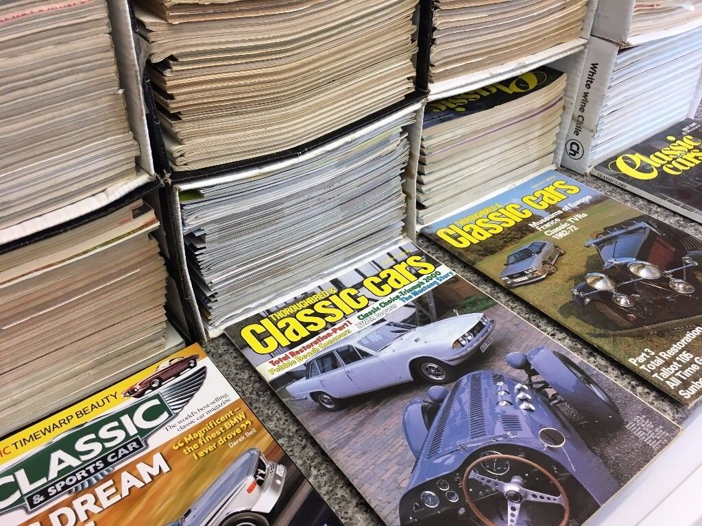 Assorted Classic Car magazines (roughly 190)