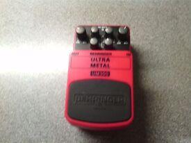 Behringer distortion pedal £15 cash