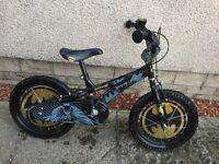 "16"" Batman bike. Comes with stabilisers, Batman helmet & bell. Great condition."
