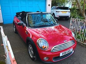 Mini One Convertible 2011 Red Excellent Condition