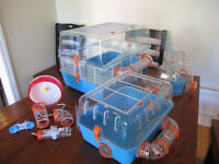 Multi-Section Hamster Cages