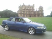 SAAB 9-3 CONVERTIBLE, 2L TURBO, 2001 Y-REG, BLUE with LOW MILES..!!!!
