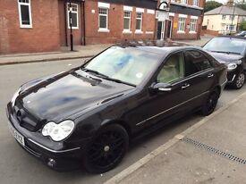 Mercedes C200 cdi black, cream leathers...