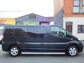 Super Low Mileage 45k from new Renault Trafic 2.0dCi LWB sport 6 seat factory fitted crew cab (26)