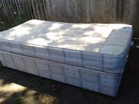 Single Bed, Mattress with divan base - DELIVERY AVAILABLE