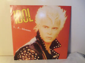 "BILLY IDOL ""L.A. WOMAN"" VINYL 12"" SINGLE"