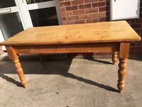 Solid Pine dining/kitchen table