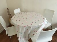 Job Lewis table 5 white chairs shabby chic project