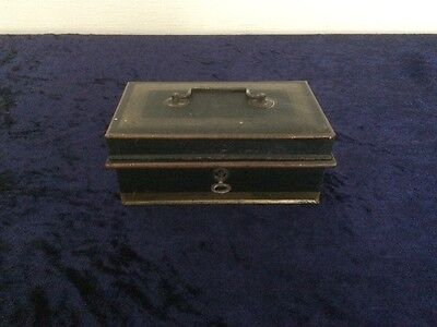 Vintage Cash Deed Box (A1) with tray and key