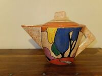 Clarice Cliff teapot - reproduction Art Deco, ornamental, beautiful condition, collectible