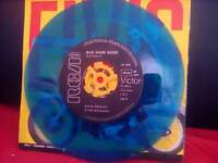 Elvis presley rare german blue vinyl 45 record