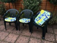 Jardin 4 Stackable Garden Chairs with Seat Pads