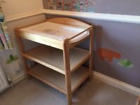 Changing table. Light wood. Excellent condition