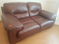 Brown Leather 2 seater sofa (excellent condition) £200 ono