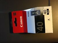 Genuine Canon 40 (PG-40) Black Printer Ink Cartridge