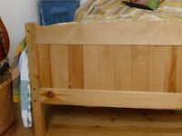 Sold- Classic wooden double bed and mattress for £70- flat pack, collection only