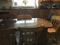Solid oak kitchen with granite worktops