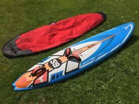 Windsurf kit: 95L Tabou Rocket Air Ltd Edition and rigs