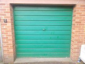Garage door with lock up and over