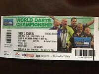 World championship darts tickets 15th dec'16