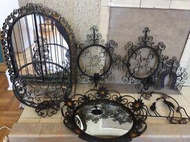 Wall mounted cast iron set