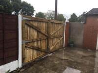 Driveway gates double gates