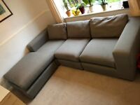 Grey L-Shaped Sofa by Made. - excellent condition - Very Clean