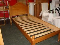 Solid Pine Wood Willis Gambier Single Bed Frame