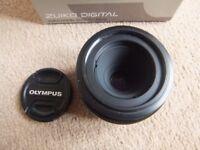 ( Boxed ) Olympus Digital Zuiko 35mm f/3.5 macro SLR lens - Four Thirds system