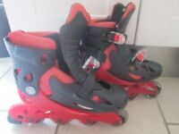 Inline skates to fit sizes 13-3 (adjustable to fit) - good used condition