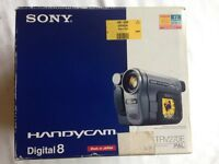Sony Handycam DCR-TRV270E - Digital 8 - boxed including manual and 4 tapes