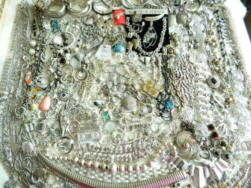 200+ Vintage Modern Silver-ish  Silver tone Jewelry Monet Napier Avon Parklane