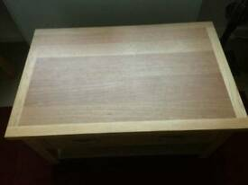London oak coffee table light solid wood table