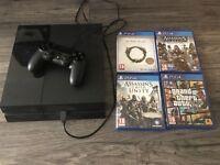 PS4 + GTA5, AC UNITY, AC SYNDICATE and ELDER SCROLLS ONLINE