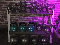 Commercial Kettlebells Set and Storage Rack - Excellent Condition - Pick & Mix Available