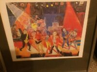 Ian Drury and The Blockheads 1980 framed print