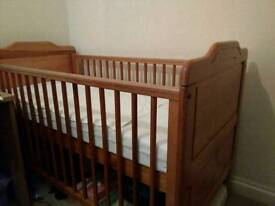 Nearly new cot bed