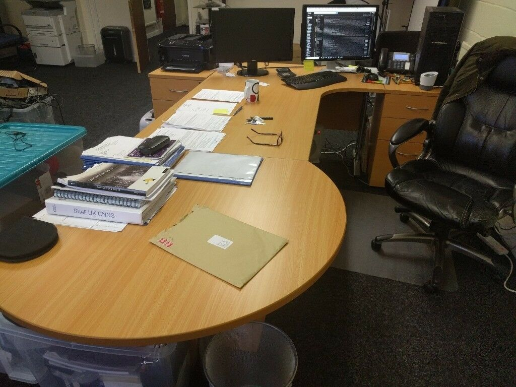 Sold Corner Executive Office Desk With End Extension