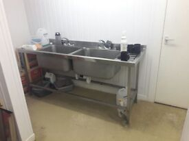 double sink - commercial kitchen sink