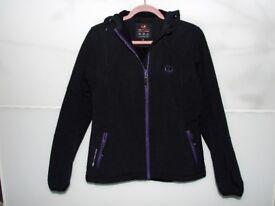 Ultrasport Women's Softshell Jacket Estelle Hooded - Black, Medium size 10-12