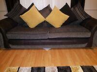 Charcoal grey dfs sofa