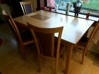Solid Wood Extendable Dining Table and 8 Chairs