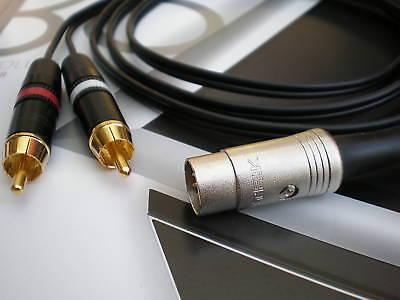 Rca Phono Lead - 2 Phono/RCA to Bang & Olufsen B&O Lead (5 pin din) 1m