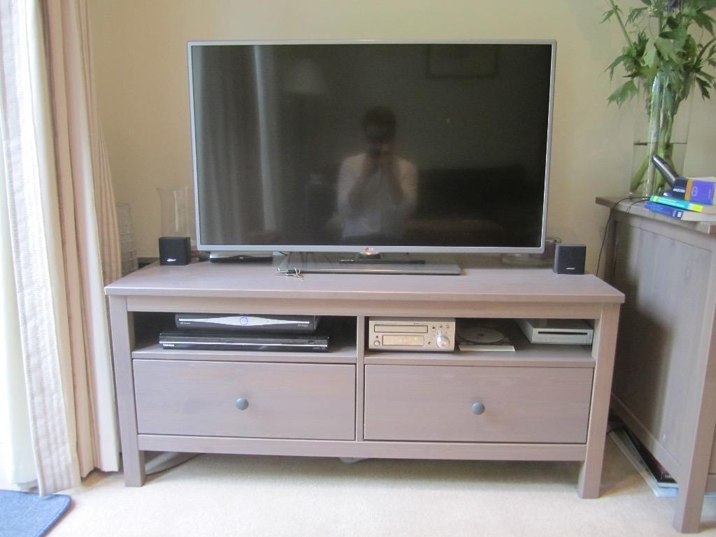 Hemnes Tv Stand Gray Brown : Hemnes TV Stand with Two Drawers in Grey Brown  IKEA Hemnes TV stand