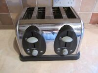Chrome Toaster - 4 Slice. Good working order!! Not used much - Wickford Essex