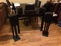 Daewoo Stereo set, including stands and all speakers