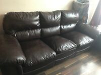 3+2 Brown Faux Leather Sofa