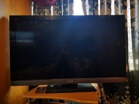 Sony tv for parts with remote control